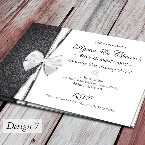 100 Personalised Engagement Party Invitations with choice of – Personalised Engagement Party Invitations
