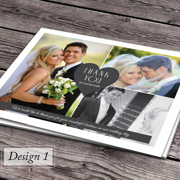 100 Personalised Wedding Thank You Cards with your photos Envelopes – Personalised Wedding Thank You Cards