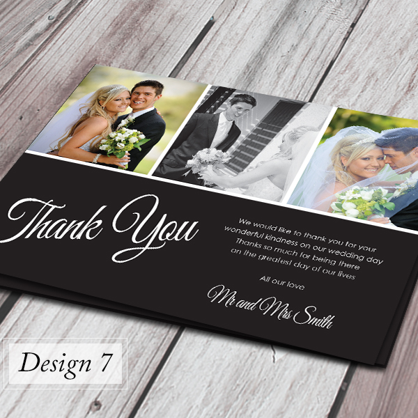 Thank You Wedding Cards.Details About 100 Personalised Wedding Thank You Cards With Your Photos Envelopes
