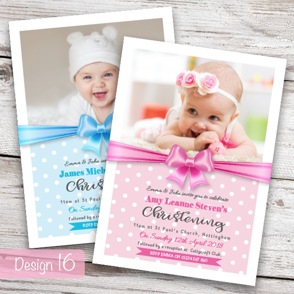 Your Invites Personalised Christening Or Baptism Invitations