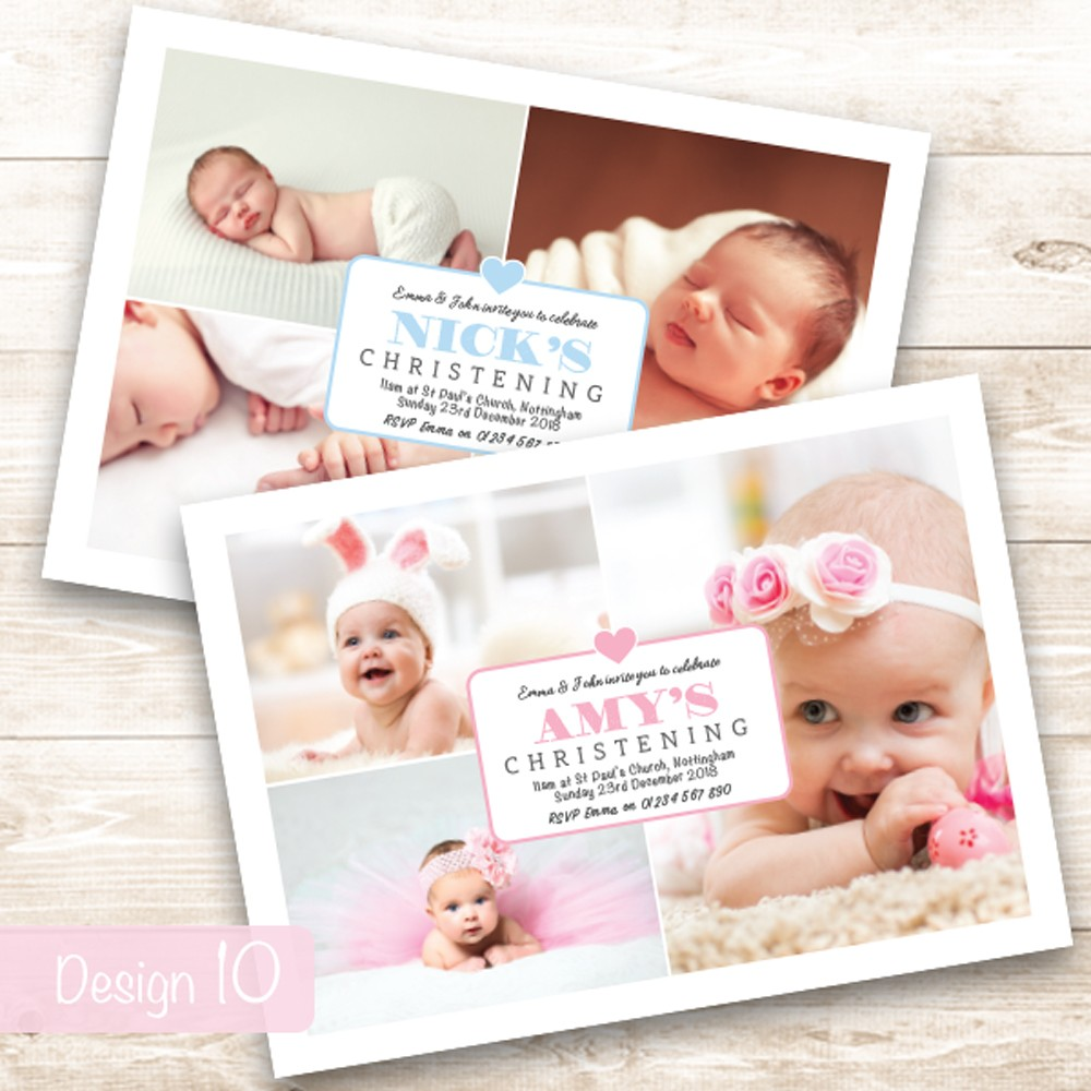 Christening Invitations - Design 10