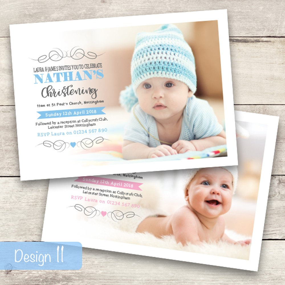 Christening Invitations - Design 11
