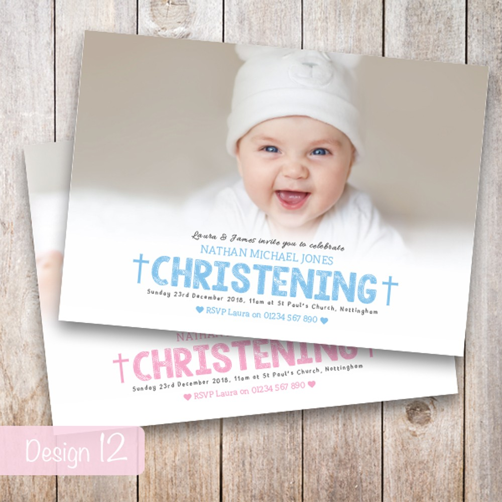 Christening Invitations - Design 12