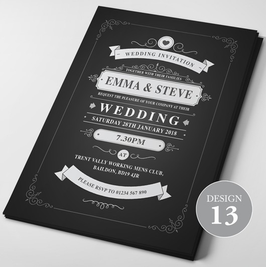 Wedding Invitations - Design 13