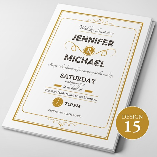 Wedding Invitations - Design 15
