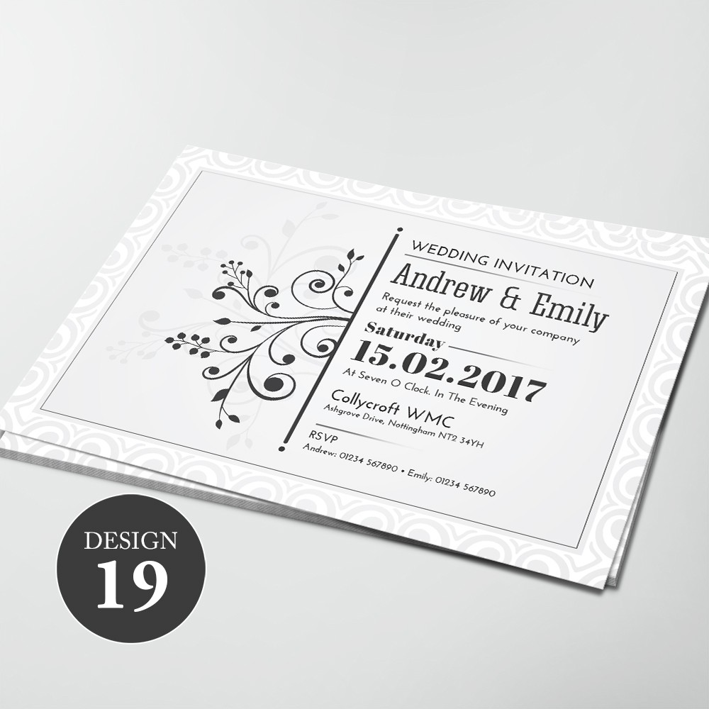 Wedding Invitations - Design 19