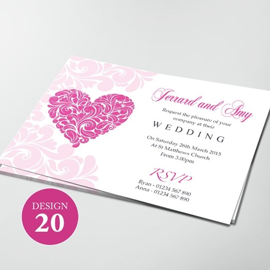 Wedding Invitations - Design 20