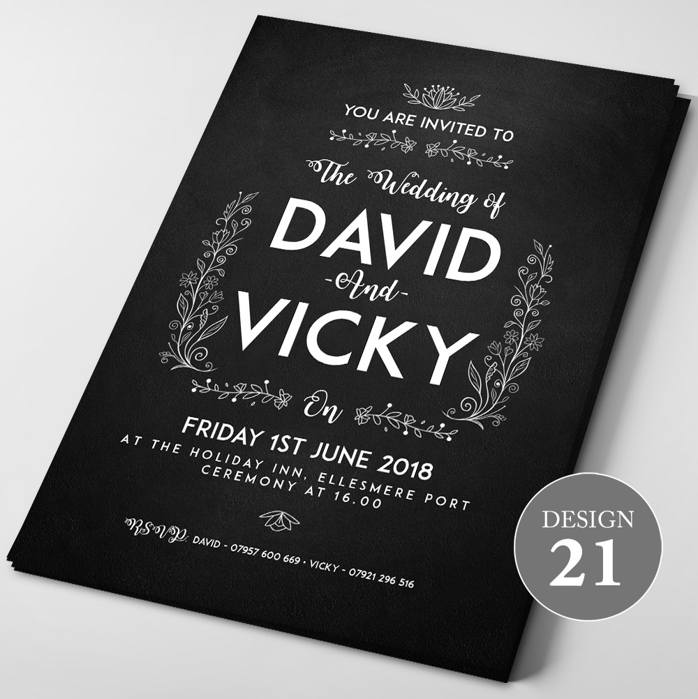 Wedding Invitations - Design 21