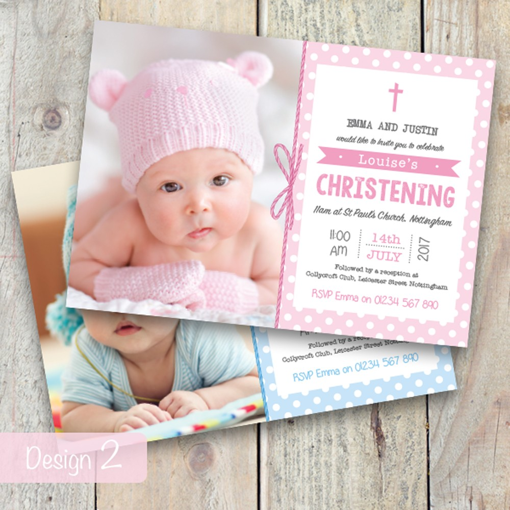 Christening Invitations - Design 2