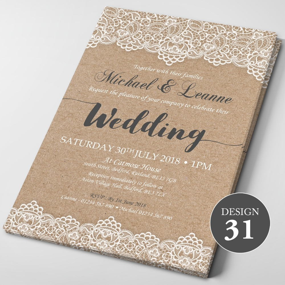 Wedding Invitations - Design 31