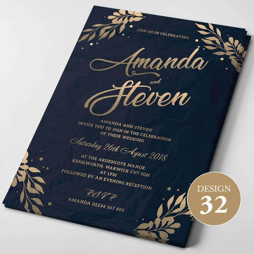 Wedding Invitations - Design 32