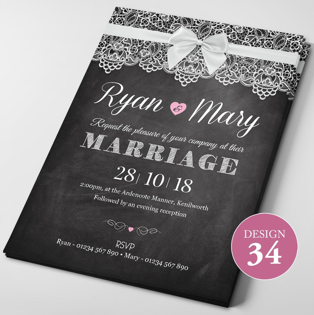 Wedding Invitations - Design 34