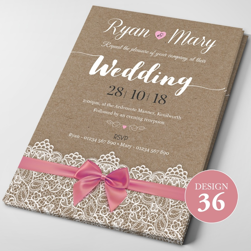 Wedding Invitations - Design 36