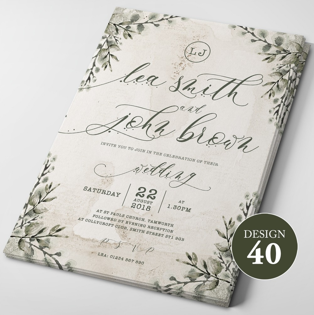 Wedding Invitations - Design 40