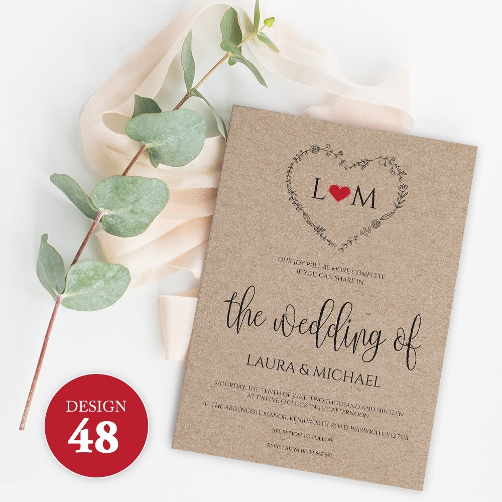 Wedding Invitations - Design 48