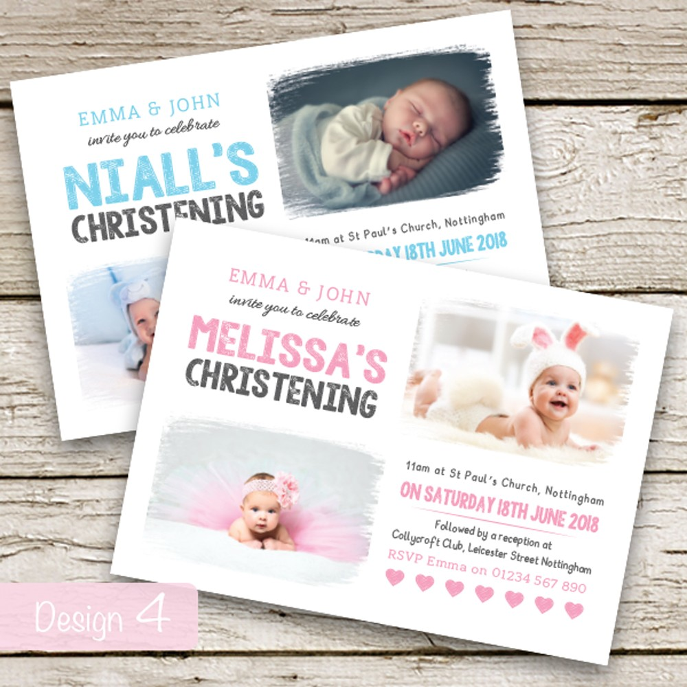Christening Invitations - Design 4