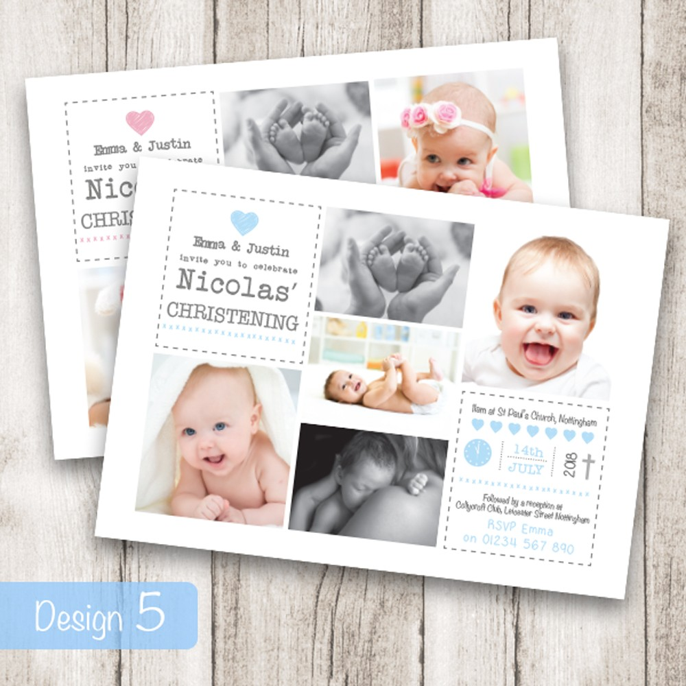 Christening Invitations - Design 5