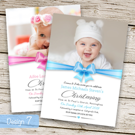 Christening Invitations - Design 7