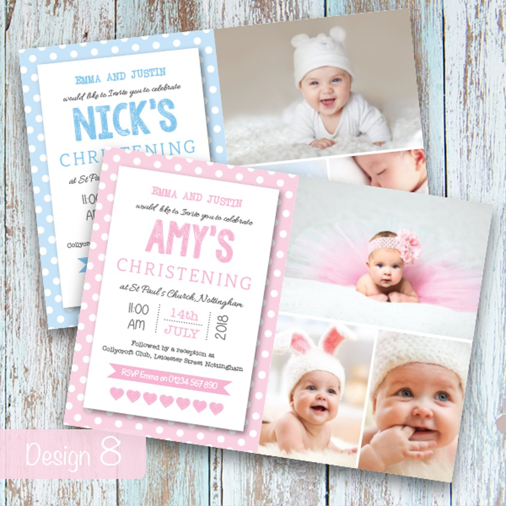 Christening Invitations - Design 8