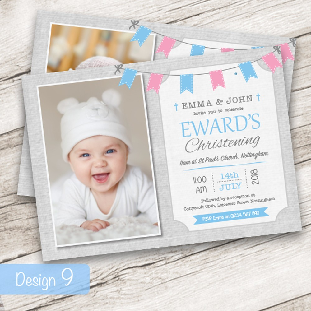 Christening Invitations - Design 9